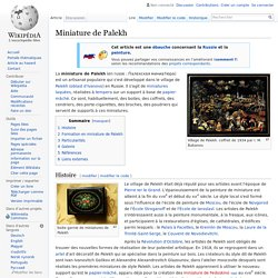 Miniature de Palekh - (Russe)