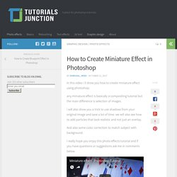 How to Create Miniature Effect in Photoshop