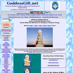 Miniature Goddess Statues and Hindu Altar Pieces - Sandplay figurines