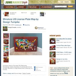Miniature US License Plate Map by Design Turnpike