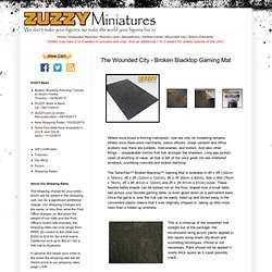 Miniatures Store: The Wounded City - Broken Blacktop Gaming Mat