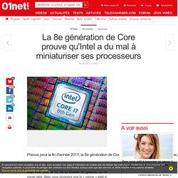 La 8e génération de Core prouve qu'Intel a du mal à miniaturiser ses processeurs
