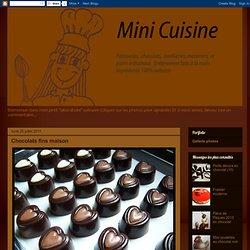 Chocolats fins maison