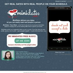 Minidates- Time 2 Meet - Real Dates When You're Available