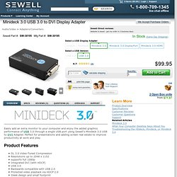 Minideck 3.0 USB 3.0 to DVI Display Adapter - SW-30195, $99.95