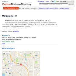 Minidigital IT, Suite 4, 26 Hector St West, Perth, Western Australia, 6017, Australia