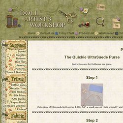 Tutorial - The Quickie UltraSuede Purse