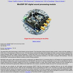 [Review] MiniDSP DIY digital sound processing module review -