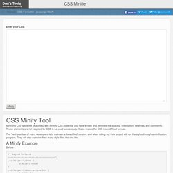 Minify and Compress CSS