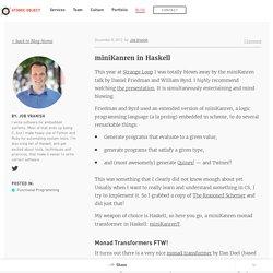 miniKanren in Haskell