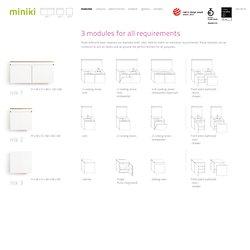 3 module für jede Anforderung: mk1, mk2 und mk3 – miniki, the small mini-kitchen!