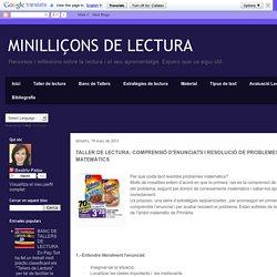 COMPRENSIÓ D'ENUNCIATS I RESOLUCIÓ DE PROBLEMES MATEMÀTICS