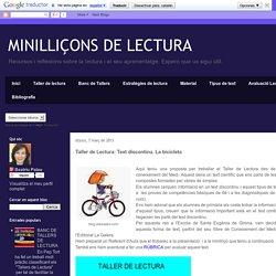 MINILLIÇONS DE LECTURA : Text discontinu. La bicicleta