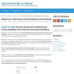 Minilytics. Analyse de votre audience sur Facebook