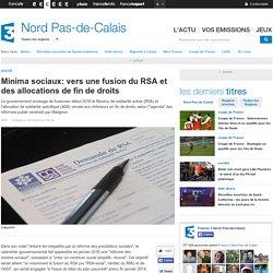 Minima sociaux: vers une fusion du RSA et des allocations de fin de droits