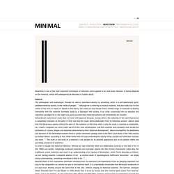 Minimal Art & Minimal Music > Repetition