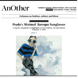 Who, What, Why - Prada's Minimal-Baroque Sunglasses
