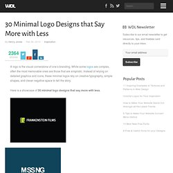 30 Minimal Logo Designs that Say More with Less