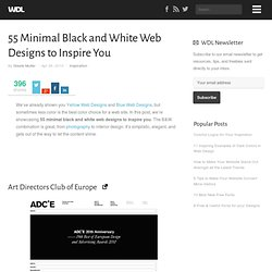 55 Minimal Black and White Web Designs to Inspire You