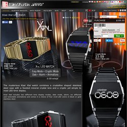 Minimal Futuristic LED Watch with Time, Date, Alarm & Six Animations. Kisai Xtal.