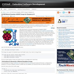 84 MB Minimal Raspbian ARMHF Image for Raspberry Pi
