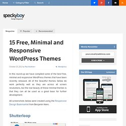 15 Free, Minimal and Responsive WordPress Themes