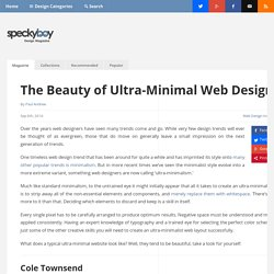 The Beauty of Ultra-Minimal Web Design - Speckyboy Design Magazine