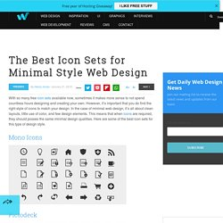The Best Icon Sets for Minimal Style Web Design