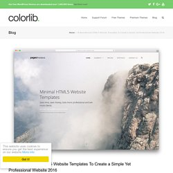 18 Best Minimal HTML5/CSS3 Website Templates 2016