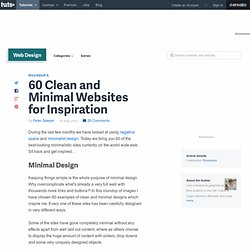 60 Clean and Minimal Websites for Inspiration