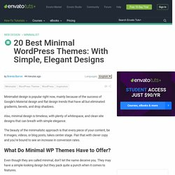 20 Best Minimal WordPress Themes: With Simple, Elegant Designs