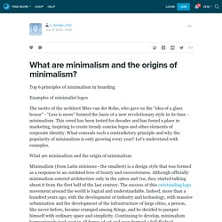 What are minimalism and the origins of minimalism? : s_design_hub — LiveJournal