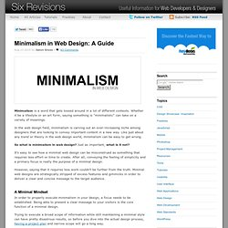 Minimalism in Web Design: A Guide