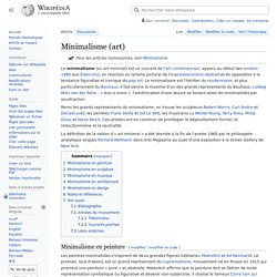 Minimalisme (art)