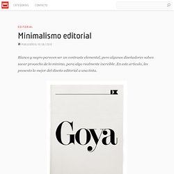 Minimalismo editorial