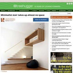 Minimalist stair takes up almost no space