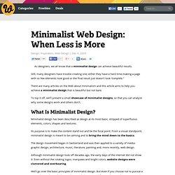Minimalist Web Design: When Less is More