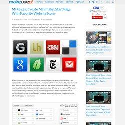 MyFav.es: Create Minimalist Start Page With Favorite Website Ico