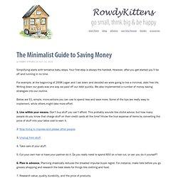 The Minimalist Guide to Saving Money