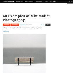 40 Examples of Minimalist Photography at DzineBlog