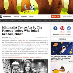 Minimalist Tattoo Art By The Famous JonBoy Who Inked Kendall Jenner