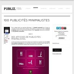 100 publicités minimalistes