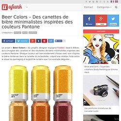 Beer Colors – Des canettes de bière minimalistes inspirées des couleurs Pantone