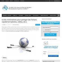 5 sites minimalistes pour partager des fichiers rapidement (photos, vidéos, etc.)