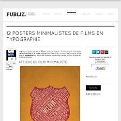 12 posters minimalistes de films en typographie