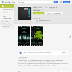 Minimalistic Text (donate) - AndroidMarket
