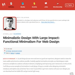 Minimalistic Design With Large Impact: Functional Minimalism For Web Design