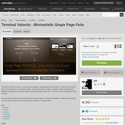 Terminal Velocity - Minimalistic Single Page Folio - Site Templa
