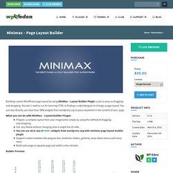 Minimax - Drag and Drop Page Layout Builder