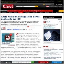 Apple minimise l'attaque des clones applicatifs sur iOS